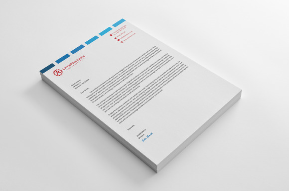 Letterhead Design Blue