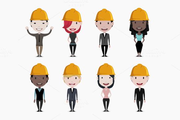 Worker Engineer Character Set