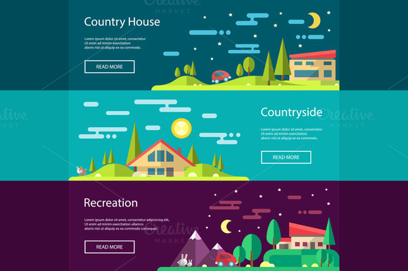 Buildings Infographics Banners 2