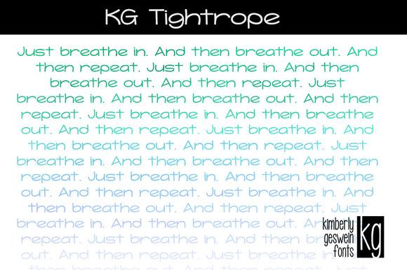 KG Tightrope Font
