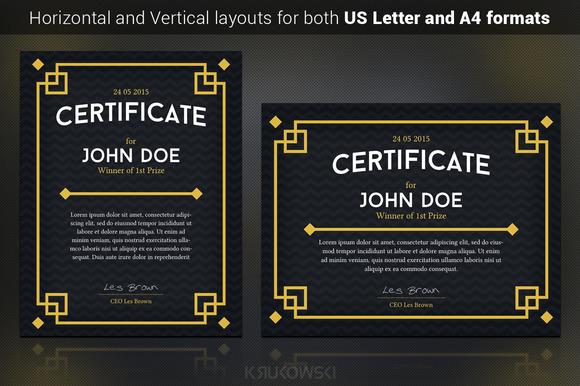 Dark Certificate Template