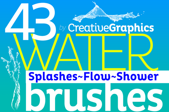 Water Brushes For Photoshop CS2-CC