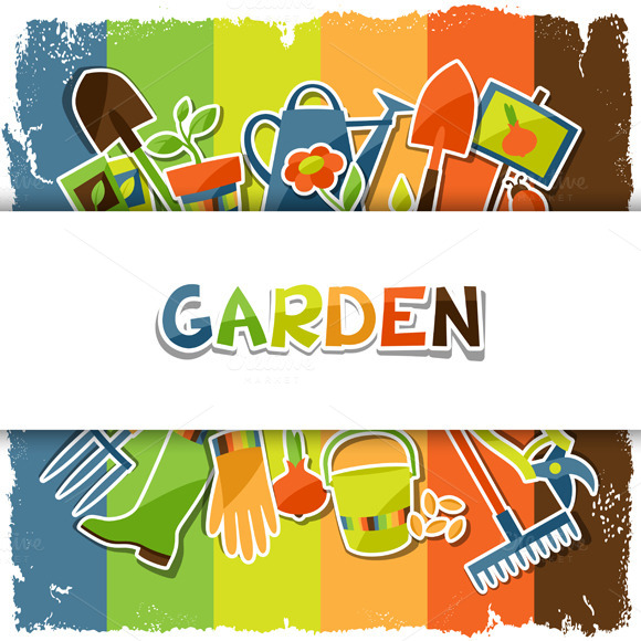 Backgrounds With Garden Stickers