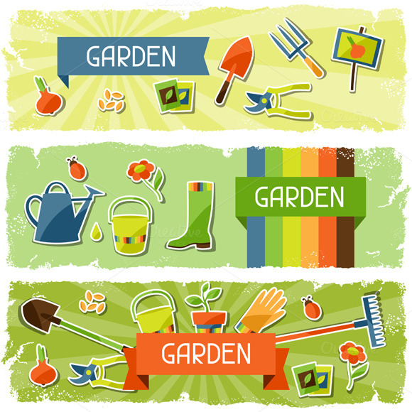 Banners With Garden Stickers