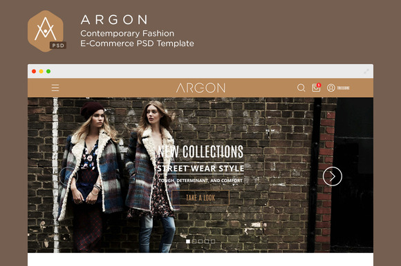 Argon WP E-Commerce PSD Template