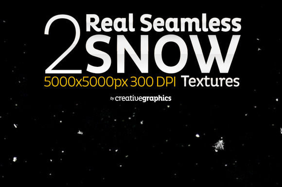 2 Real Seamless Snow Textures
