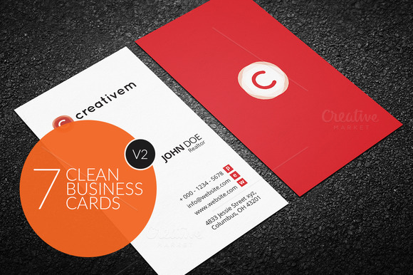 7 Clean Minimal Business Cards V2