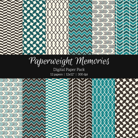 Patterned Paper Blue Chocolate