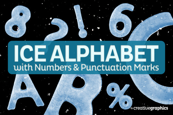 Complete Ice Alphabet Numbers PMarks