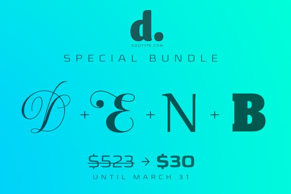 Dootype Special Bundle Only $30