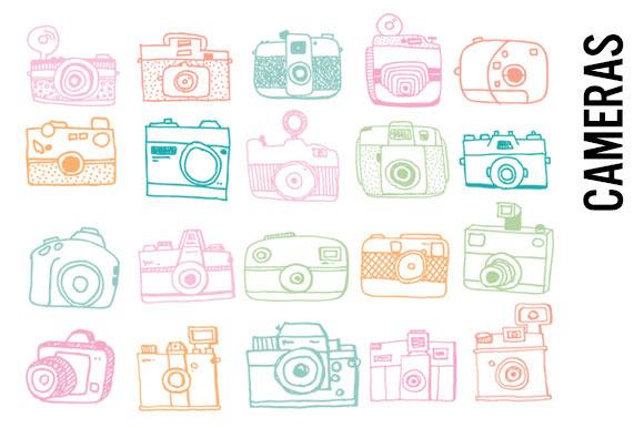 Pastel Camera Doodles
