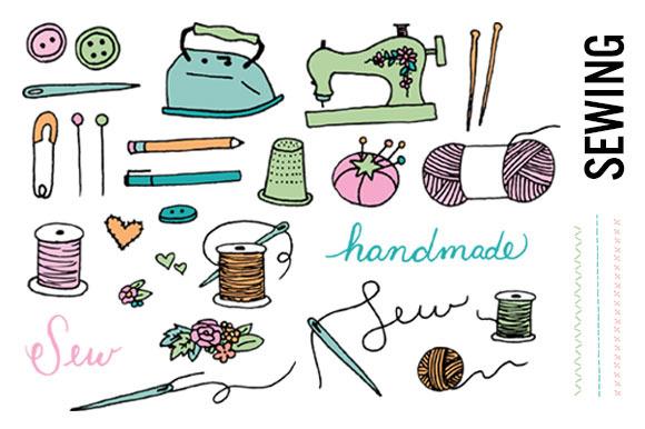 Sewing Doodle Clip Art