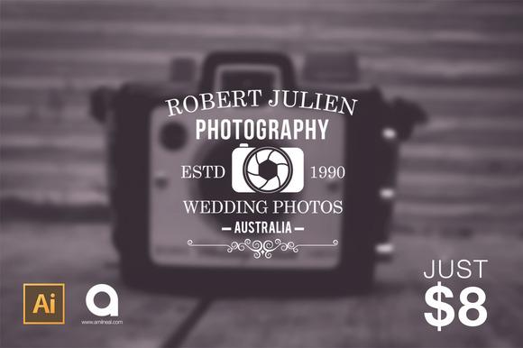 12 Photographer Logo Pack