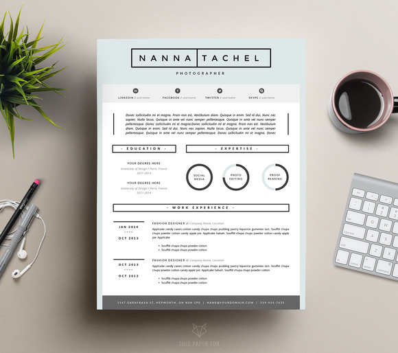 CV Template For MS Word Resume