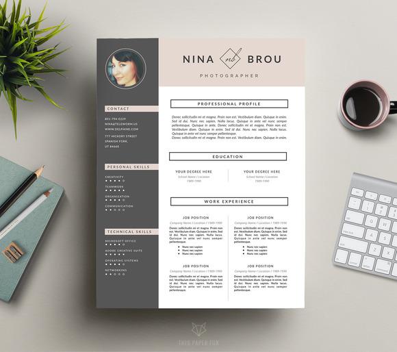 Feminine Resume Design CV