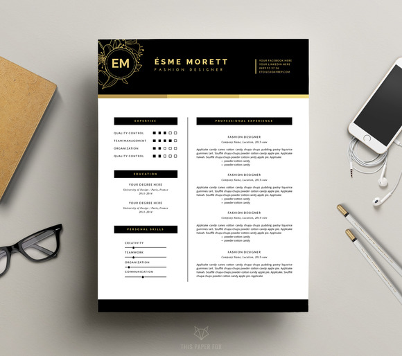 Fashion Resume Template For MS Word