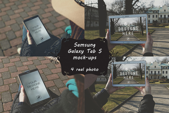 8 Photo Mock-ups Galaxy Tab S