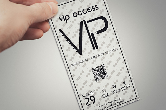 Elegant Simple VIP PASS Card
