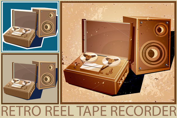 Retro Reel Tape Recorder Set