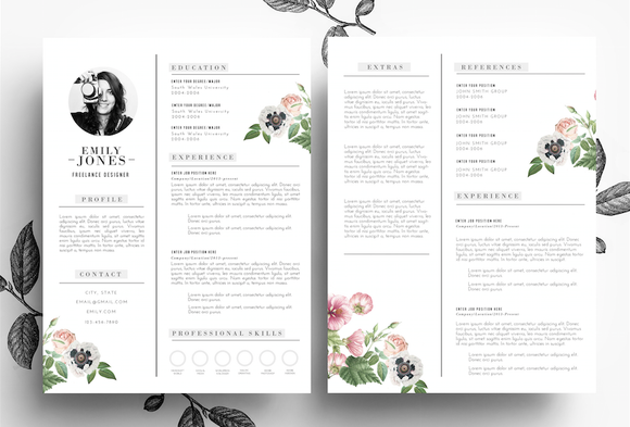 Creative CV Cover Letter PSD Word