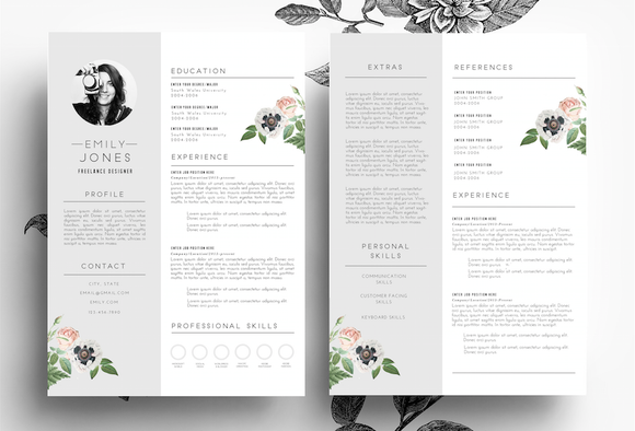 Professiona CV Cover Letter PSD Word