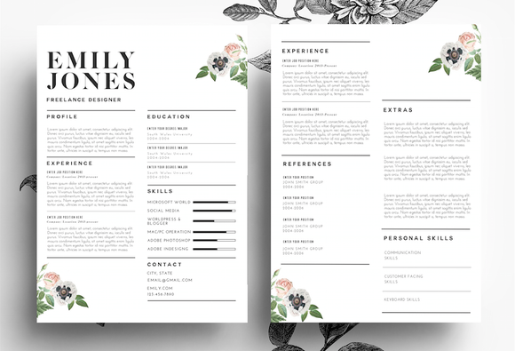 Modern Resume PSD Word File