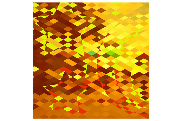 Autumnal Forest Abstract Low Polygon