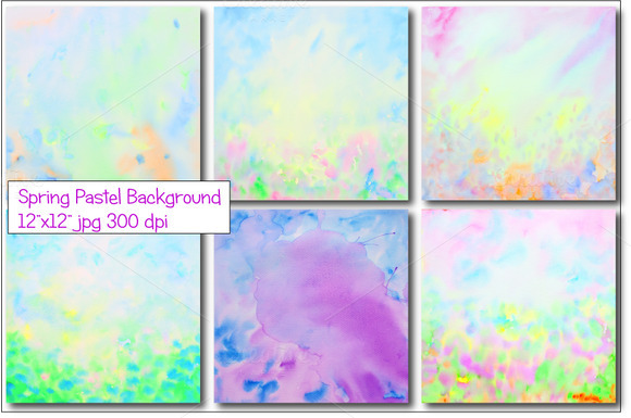 Abstract Spring Pastel Background