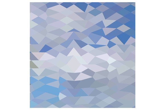 Grey Ocean Wave Abstract Low Polygon