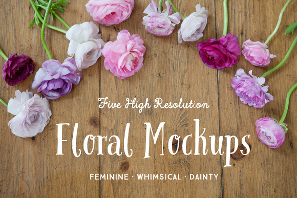 Floral Styled Stock Photos Mockup