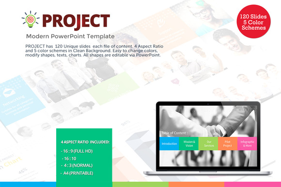 Project Modern PowerPoint Template