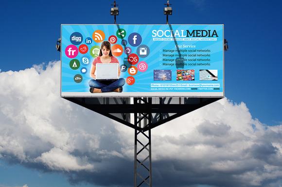 Social Media Billboard Roll-Up
