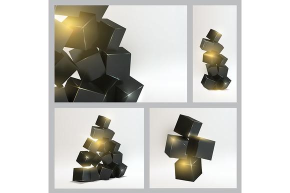 Set Of Magic Boxes Close-up
