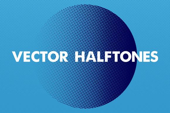 Clean Vector Halftones Collection