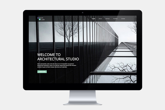Architecture One Page Web Template