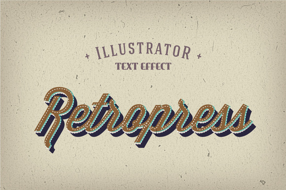 Retropress Illustrator Text Effects