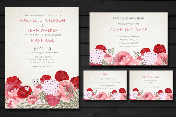 Breathtaking Bloom Wedding Invite