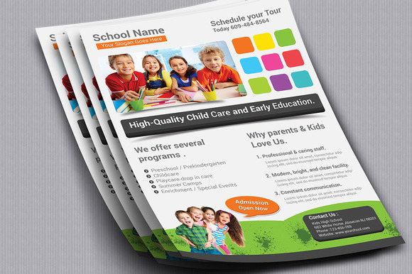 School Flyer Template 01
