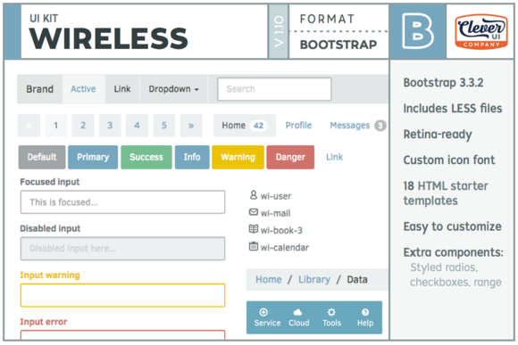 Wireless- Bootstrap UI Kit