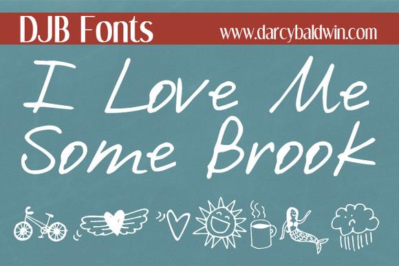 DJB I Love Me Some Brook Font