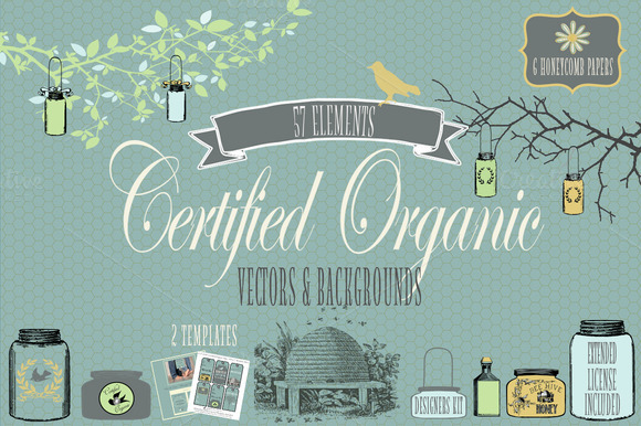 Certified Organic Vector Design Kit