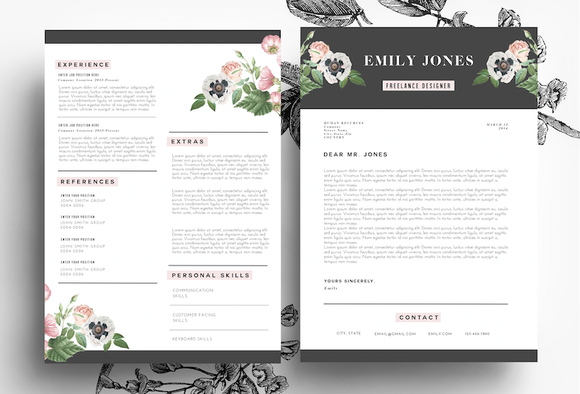 Creative Resume PSD Word