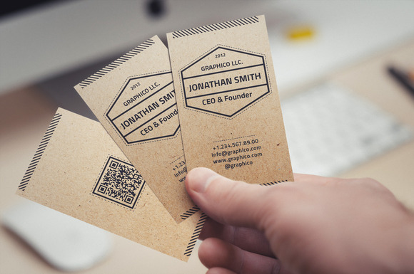 Simple Textured Business Card 20