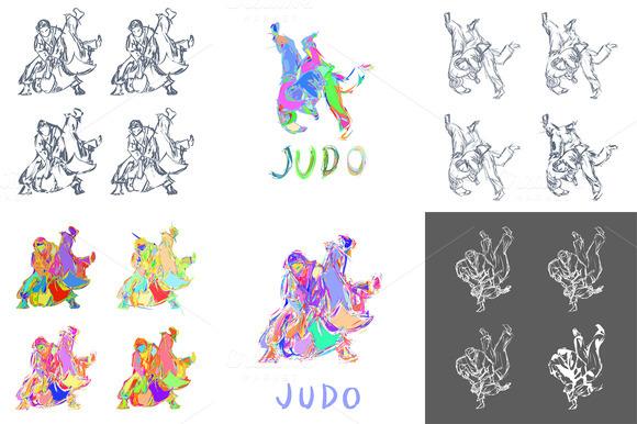 Hand Drawn Judo Throw