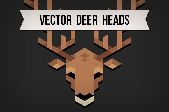 Polygonal Deer Heads