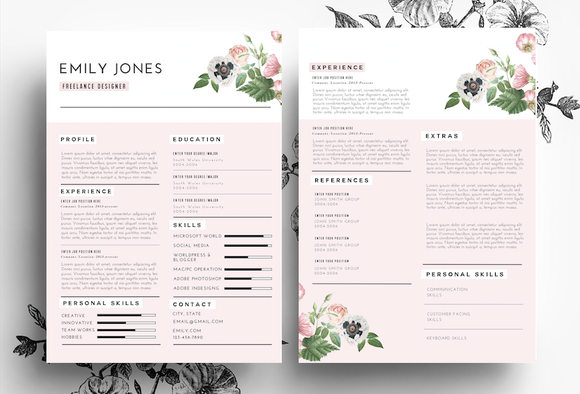 Professional CV In PSD And Word File