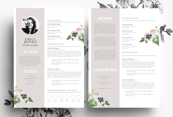 Resume Template In PSD And Word File
