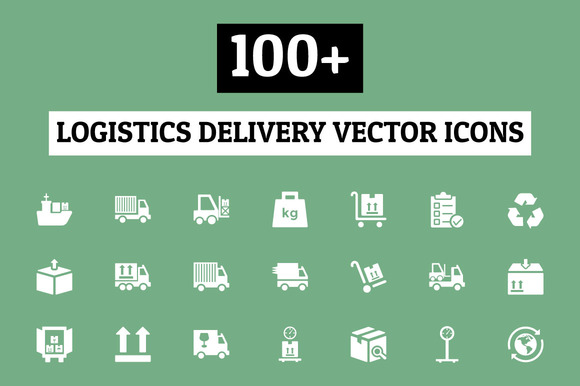 100 Logistics Delivery Vector Icons