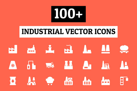 100 Industrial Vector Icons
