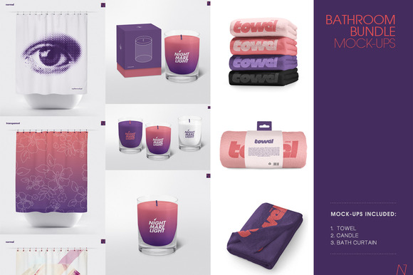 BATHROOM BUNDLE MOCK-UPs 3 In 1